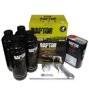 4 liter raptor black bed liner + schultz spray gun