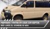 Hyundai h1 4x4 autocaravana pintado con revestimiento raptor bed liner, color desert tan nato, ral 1001